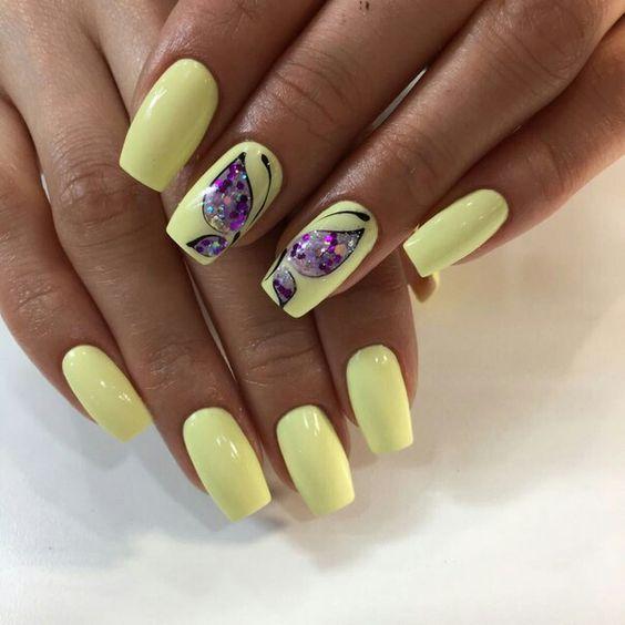 Бабочки на ноготках — великолепные идеи для отличного летнего настроения