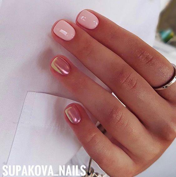 Стильные идеи маникюра на короткие ногти