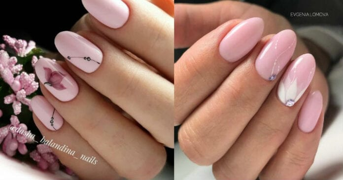Роскошный на любую форму ногтей, нежнейший нюдовый маникюр!